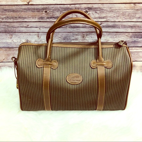 36f036347ea2 ... THIS ITEM IS SOLD! Ricardo Beverly Hills Vintage Leather Luggage Bag.  M 5b5624e3f41452504910634a